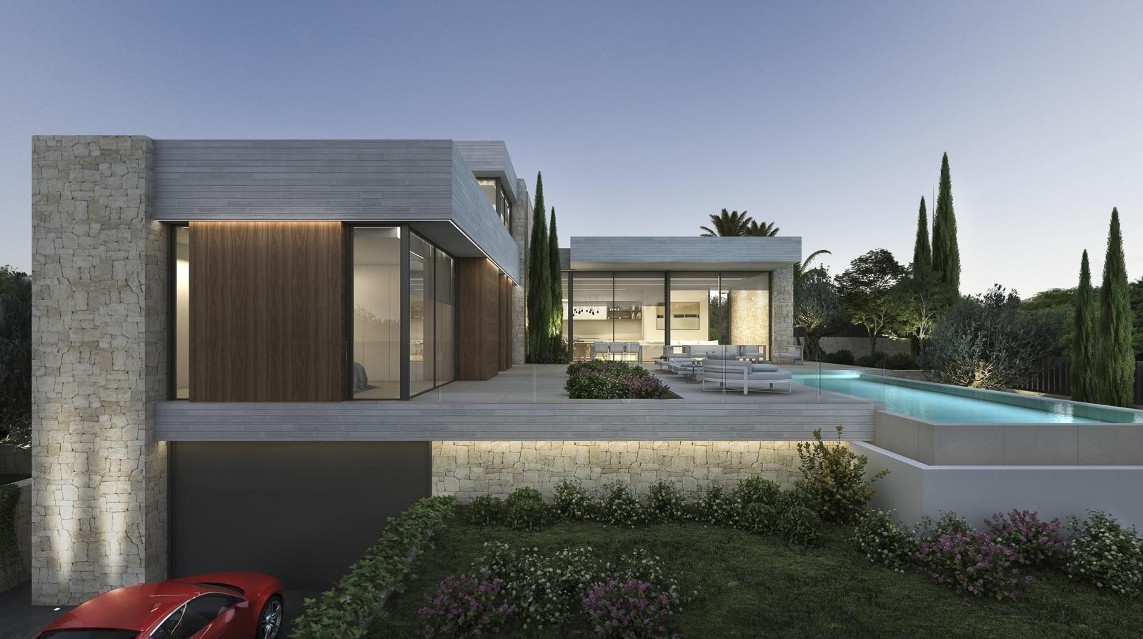 Luxury villa for sale in Moraira with sea views.